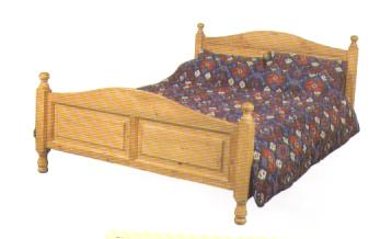 Double Bed with Medium Footboard