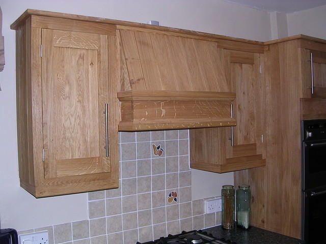 Wall cupboards and canopy
