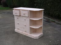 2 over 3 Chest with attatched open shelves