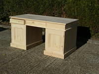 3 Piece Twin Pedastal Office Desk