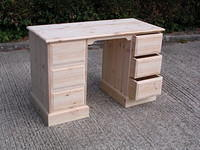 One piece Twin Pedestal Desk
