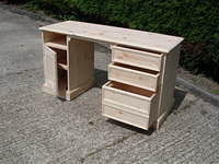 Twin Pedestal Desk with one File Drawer