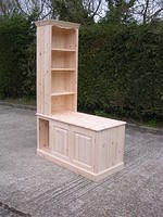 Corner bookcase and cupboard