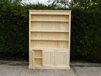 Open Top Bookcase with three doors