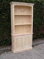 Two piece Full length Bookcase with two doors