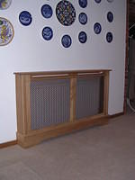 Radiator cover with bronze grill